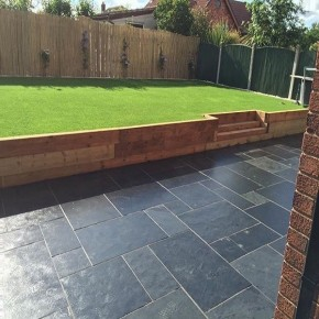 Slate Patio Slabs >> Brazilian Black Slate 600x600 Sawn Edge