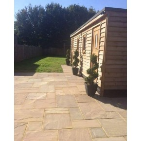 Raj Blend Multi Sandstone Paving 3 Sizes Calibrated