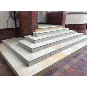 Bull Nose Steps 600x350x30mm - Sawn Mint