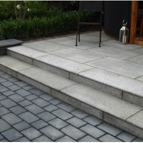 Bull Nose Steps 1000x350x30mm - Silver Granite