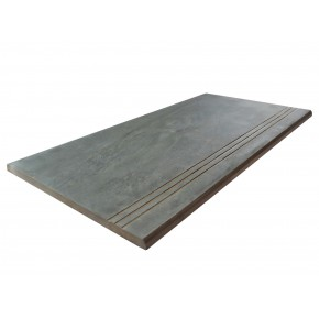 Bull Nose Steps 900x450x20mm - Anthracite Porcelain