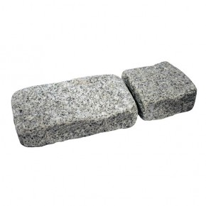 Silver Granite Cropped and Tumbled Pavers Setts 100x100