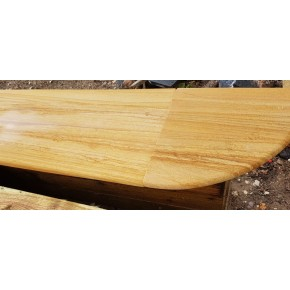 Bull Nose Steps 1000x350x30 mm -Teakwood