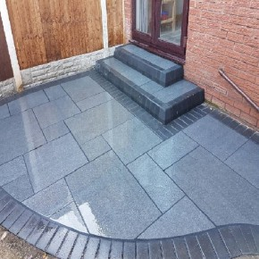 Mid Grey Blue Granite 4 Sizes Sawn & Flamed