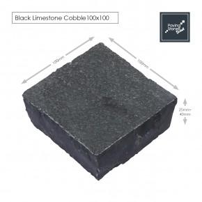 Black Limestone 100x100 cobble