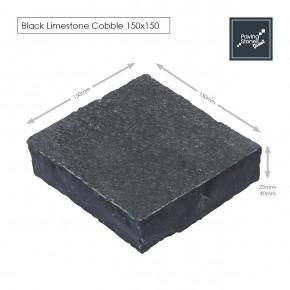 Black Limestone 150x150 Cobble