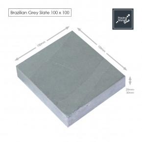 Brazilian Grey Slate Setts 100x100