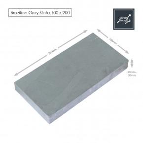 Brazilian Grey Slate Setts 200x100