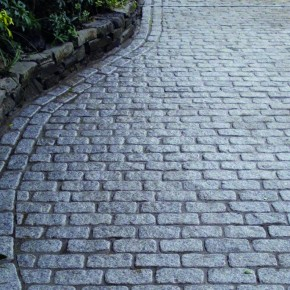 Silver Granite Cropped and Tumbled Pavers Setts 200x100