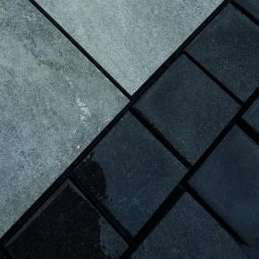 Sawn Black Granite Cobbles 100x100