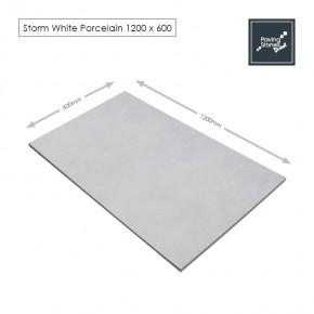 Storm White Porcelain 1200x600