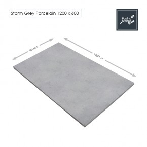 Storm Grey Porcelain 1200x600