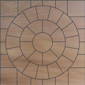 Sawn Buff - 2.4 m2 Circle with SOK