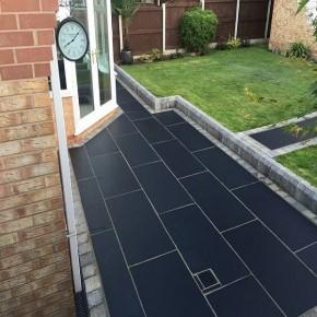 Black Limestone 1200x600 - Sawn Edge