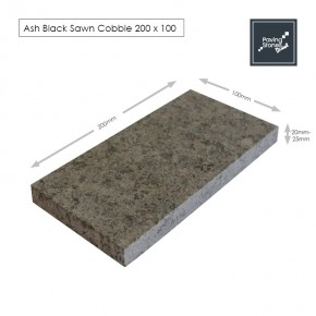 Ash Black Granite 200x100