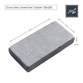 Dove Grey 200x100 cobbles