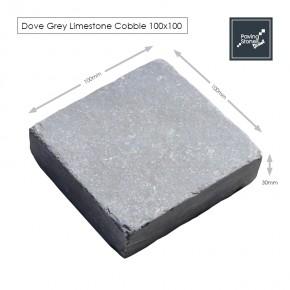 Dove Grey 100x100 cobbles