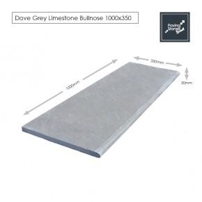 Bull Nose Steps 1000x350x30 mm - Dove Grey