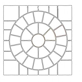 Sawn Raj - 2.4 m2 Circle with SOK