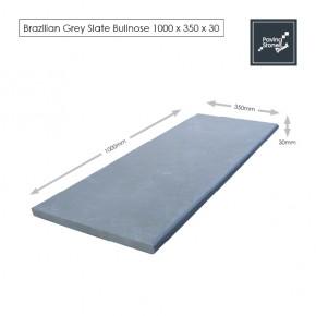 Bull Nose Steps 1000x350x30mm - Premium Brazil Grey slate