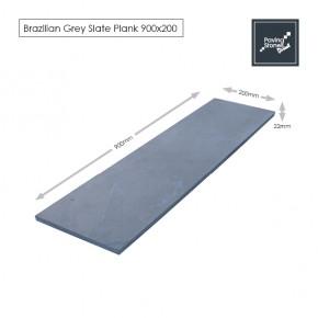 Brazilian Grey Slate Linear Paving