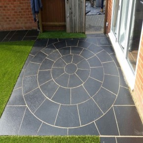 2.4 m2 Circle with SOK - Black