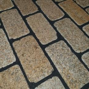 New Yellow Granite block paving