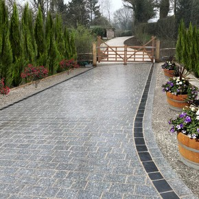 Silver Granite Block Paving
